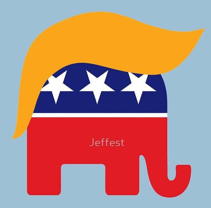 Donald Trump Hair GOP Elephant Logo by Jeffest
