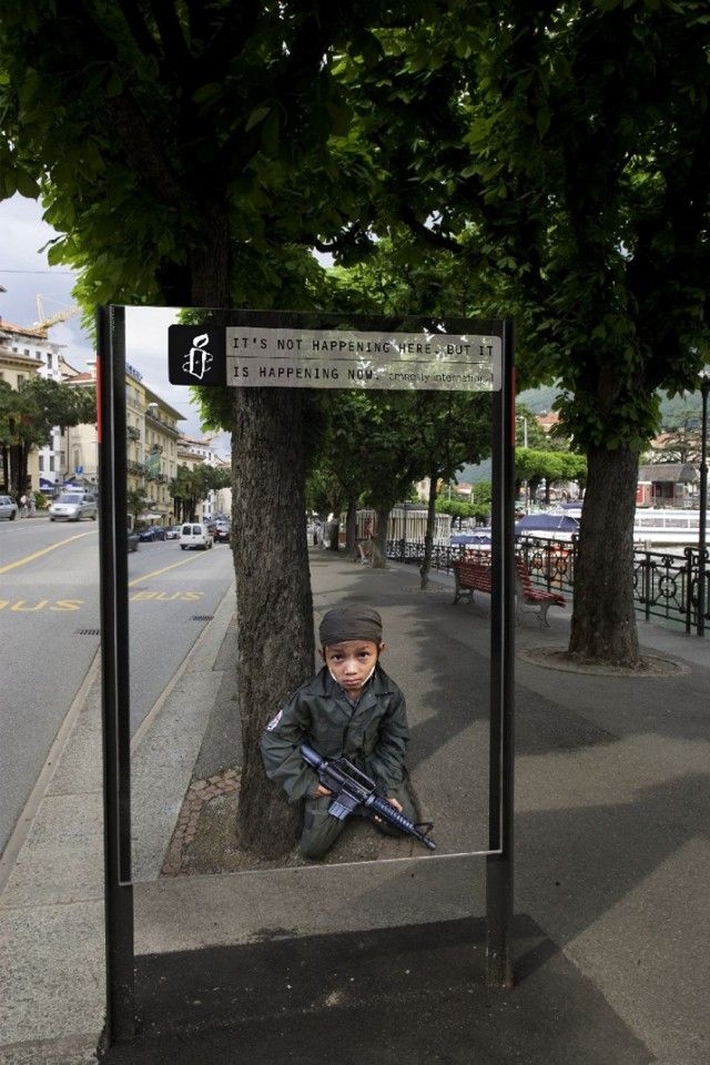 Amnesty International -Trompe l'oeil (Zurich) / 13