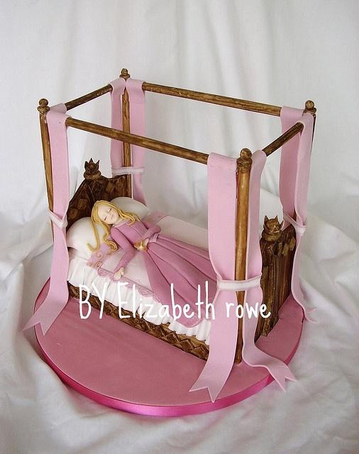 sleeping beauty cake by Libbys creations, via Flickr