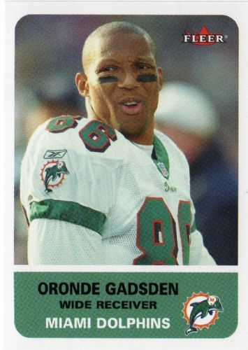 Oronde Gadsden is a former professional American football player who played with the Miami Dolphins from 1998 to 2003 from Winston-Salem State University, played with the Dallas Cowboys, Frankfurt Galaxy of the WLAF and the Arena Football League's Portland Forest Dragons, where he won Rookie of the Year[2] before signing as a free agent with the Miami Dolphins.