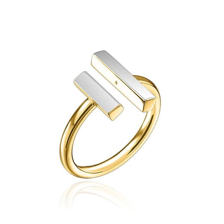Bague Verane Agatha Paris #agatha #agathaparis #bague #ring #argenté #silvered #doré #golden #bicolore #bijoux #mode #fashion #parisianstyle