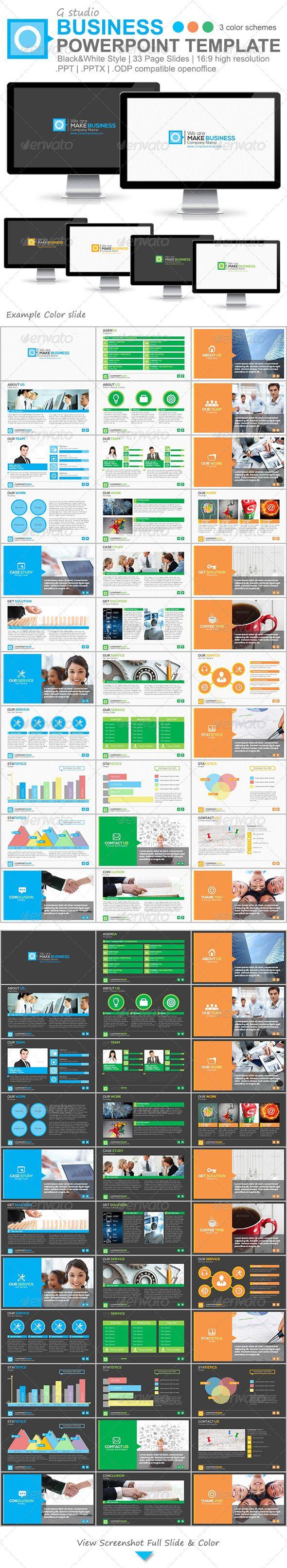 Gstudio Business Powerpoint Template - Business Powerpoint Templates