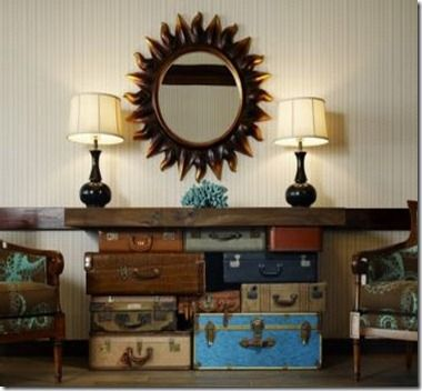 Eye For Design: Decorating With Trunks and Luggage