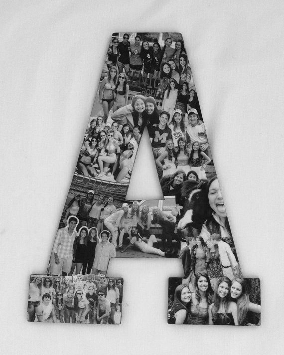Superior Custom Photo Collage Letter   Girlfriend Gift   College Dorm Room Decor Part 28