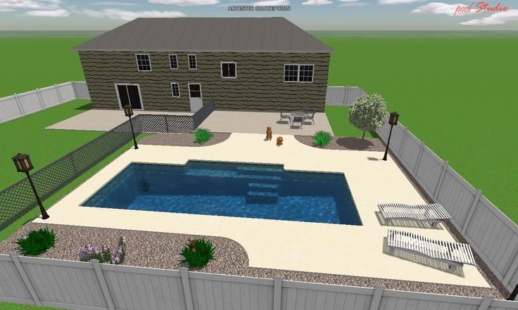 3D Elegance Fiberglass Pool design.