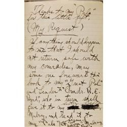 1928-30 Byrd Antarctic Expedition Mulroy's Diary