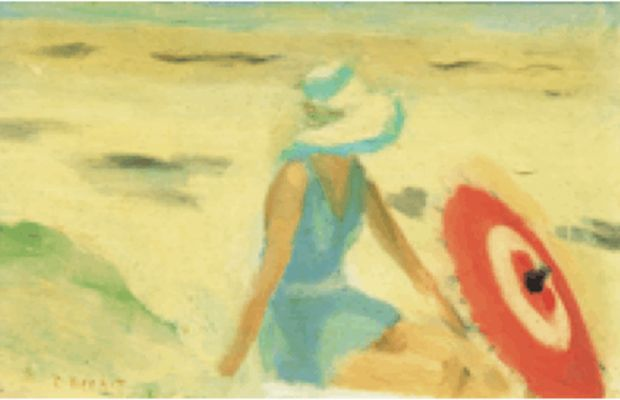 Clarice Beckett    The red sunshade, 1932