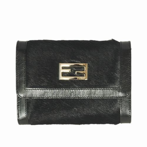 Fendi Black Horsehair Leather Small Wallet          $79.00