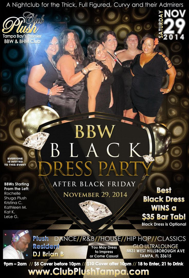 Hip hop radio stations in tampa fl - Bbw Bhm Club Plush Black Dress Party November 29 2014 Tampa