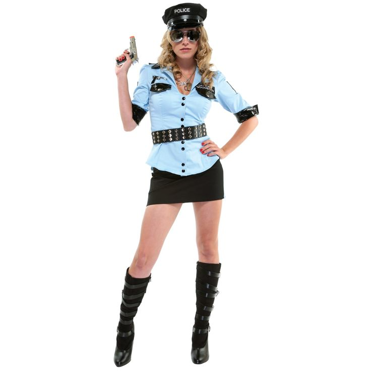 Womens Adult Officer Frisky Sexy Naughty Police Costume