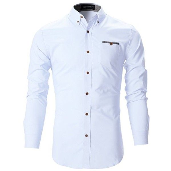 FLATSEVEN Mens Slim Fit Classic Dress Shirts: Amazon.co.uk: Clothing (83.475 COP) ❤ liked on Polyvore featuring men's fashion, men's clothing, men's shirts, men's dress shirts, mens slim fit dress shirts, mens slim shirts, mens dress shirts and mens slim fit shirts
