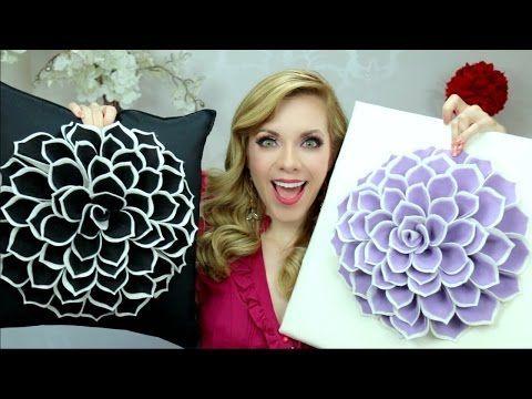 DIY COJINES DECORATIVOS! Paola Herrera - YouTube