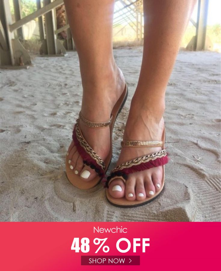 45% OFF Bohemian Sequined Holiday Sandals