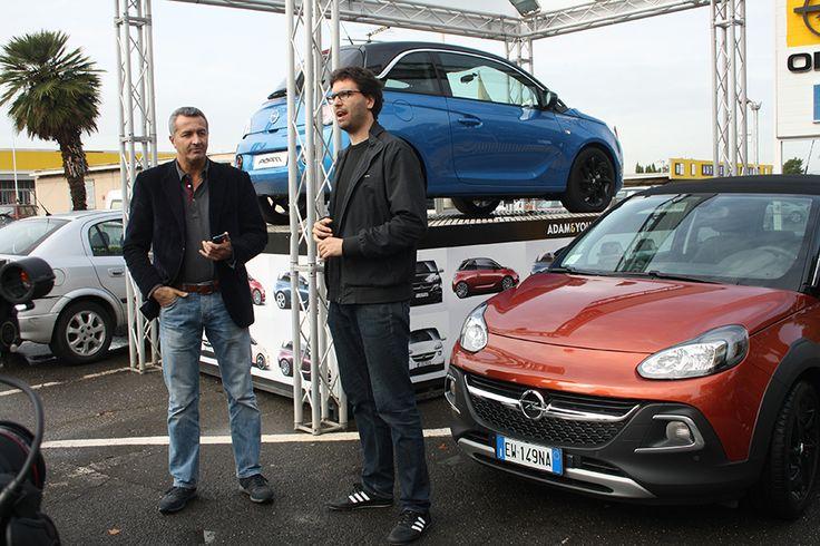 Con il giornalista di Al Volante #opel #opeldamrocks #alvolante
