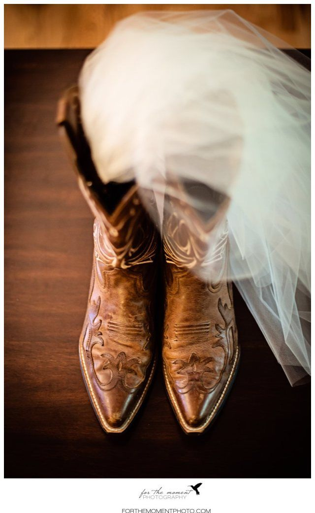 Cowgirl Boots with Veil  Barn Wedding Photos | St Louis Wedding Photos at Faust Park | Orlando Garden Reception #countrywedding #barnwedding http://forthemomentphoto.wordpress.com/2013/06/28/st-louis-faust-park-wedding-photography-courtney-ian-orlando-gardens-reception/