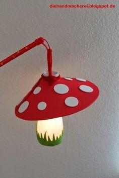 Die Handmacherei - bunt, kreativ und mit Liebe gemacht: Laterne, Laterne, Sonne, Mond und... Pilze