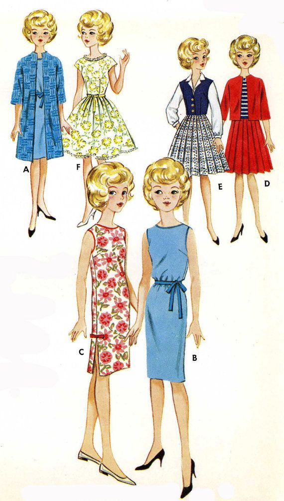 Tammy Suzie Jan Terry 12 in Doll Clothes PATTERNS by BlondiesSpot