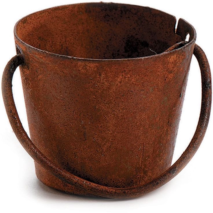 Darice Timeless Miniatures-Rusty Metal Pail - rusty metal pail