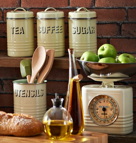 If you have a rustic or country style kitchen then you need kitchen accessories to match and the Typhoon Vintage Cream Tea Coffee and Sugar Canister Set is ideal for just that! The simple, vintage style and cream hue makes it perfect for a whole range of kitchen colour schemes. Only £23.99. Click https://www.nucasa.co.uk/typhoon-vintage-cream-tea-coffee-and-sugar-canister-set/ to see more of the Typhoon Vintage Cream Tea Coffee and Sugar Canister Set #teacoffeesugar #typhoon