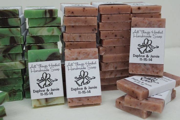 Personalized Wedding Gifts For Guests: 42 Best Handcrafted Custom Soaps Www.AllThingsHerbal.com