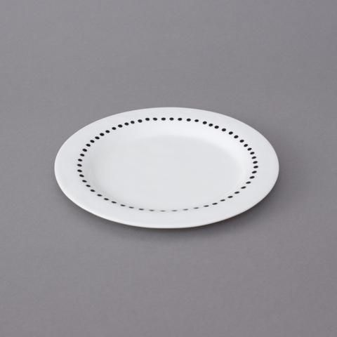 Kajsa Cramer porcelain small plate dots and stripes