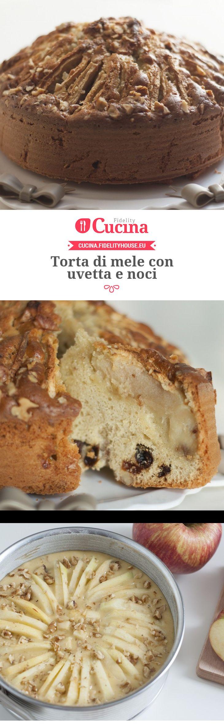 #Torta di #mele con #uvetta e #noci della nostra utente Chiara. Unisciti alla nostra Community ed invia le tue ricette!