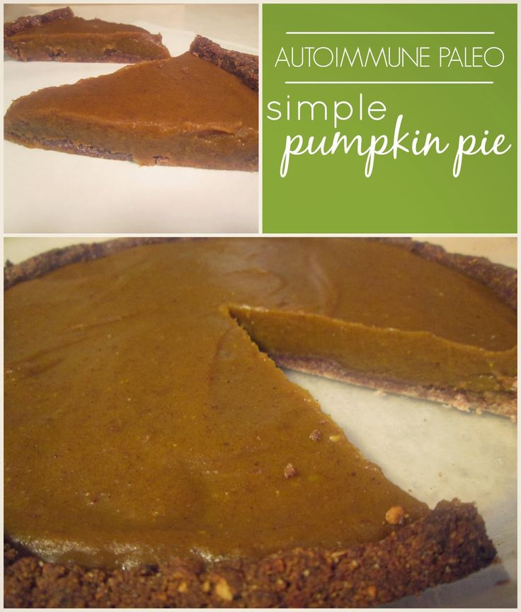 Simple Pumpkin Pie (Autoimmune Paleo)  #ThePrimitiveHomemaker