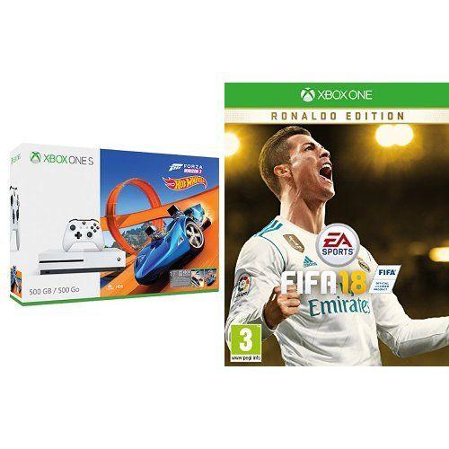 Xbox One S 500 GB + Forza Horizon 3 + DLC Hot Wheels + FIFA 18 (Ronaldo Ed.)
