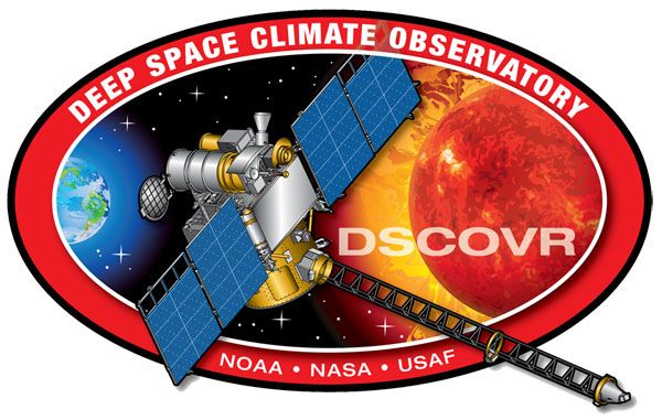 The Deep Space Climate Observatory mission patch. Credit: NOAA/NASA/U.S. Air Force
