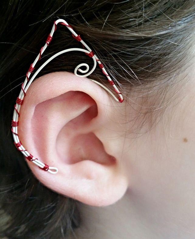 Elf Ears Ear Cuff in Candy Stripe. Non peirced. £3.95