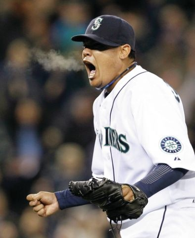 He's King Felix. Hear him ROAR! Mariners.August 15, 2012...Perfect Game! Mariners 1, Tampa Bay 0. No hits, no walks, no errors!!1