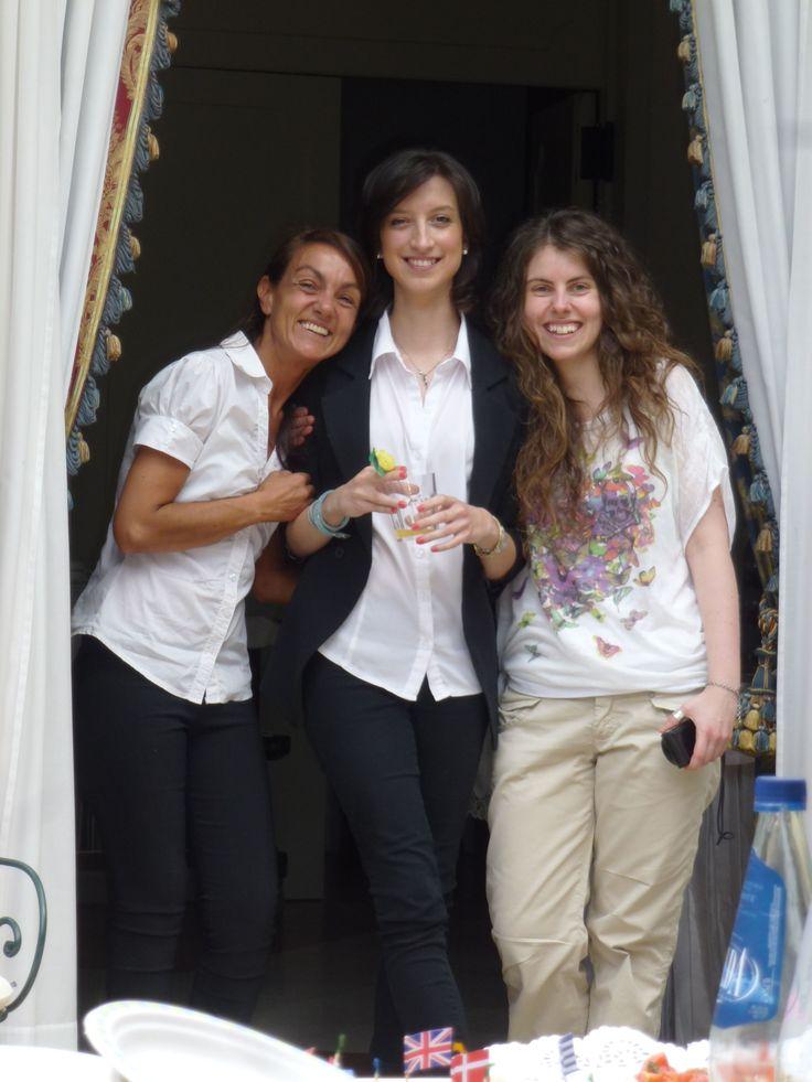 Monica, Carmen and Marika (in plain clothes) #hotel #LakeGarda