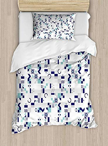 Maianne Mid Century Duvet Cover Art Deco Inspired Pattern From - Geometrical-shapes-on-bedding