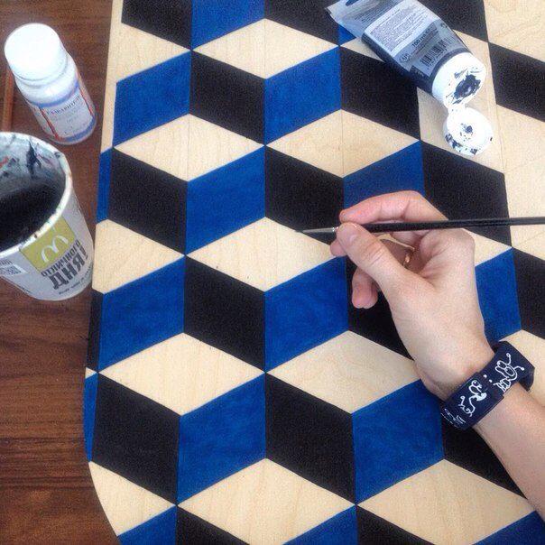 Handdrawn deck Balanceboard