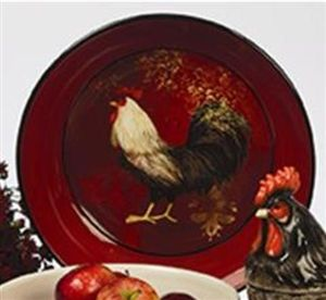 Avignon Rooster Pasta/Serving Bowl 13 Inches By Susan Winget   Certified  International Dinnerware Adorable