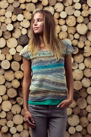 Crochet Convergence Top. I love the movement in the lower half - unconventional but cute