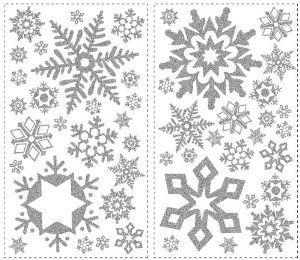 RoomMates RMK1413SCS Glitter Snowflakes Peel & Stick Wall Decals - Amazon.com