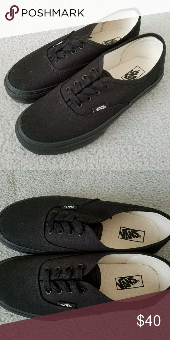 VANS Authentic Black Canvas Sneakers VANS Authentic Black Canvas Sneakers Color: Black/Black Brand new, never worn, no tags Vans Shoes Sneakers