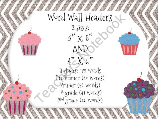 """Glitter Chevron Word Wall Headers from Mandelina's Madness on TeachersNotebook.com (22 pages)  - Matching word wall headers for: Glitter Chevron Word Wall Cards-index card sized 2 sizes included: 3""""x5"""" AND 4""""x6""""  This set  includes word wall HEADERS ONLY. ***Word Wall words sold separately.   If purchased, you may be"""