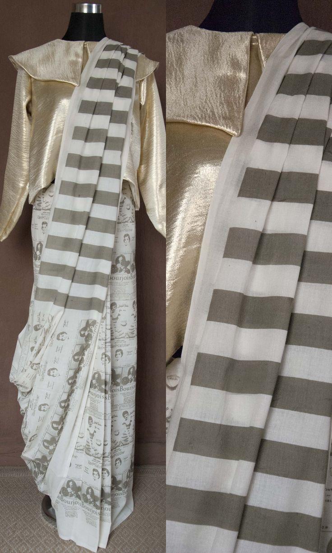 h31 Eve's Sari In Hand Woven Soft Mulmul Cotton