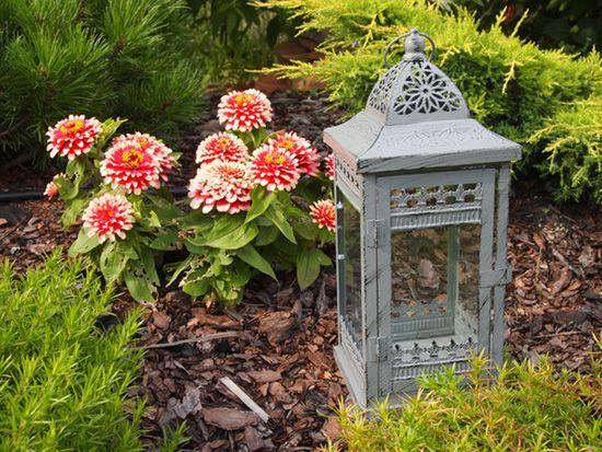 Wysoki, stylizowany lampion na jedną świecę / Romantic Garden Lanterns in Provencal style