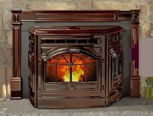 fireplace insert vintage corn pellet stove cast iron  fireplace insert pellet stove for sale