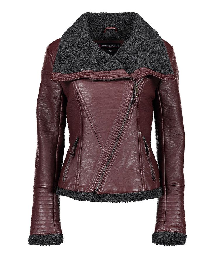 Another great find on #zulily! Urban Republic Merlot & Black Lined Moto Jacket by Urban Republic #zulilyfinds