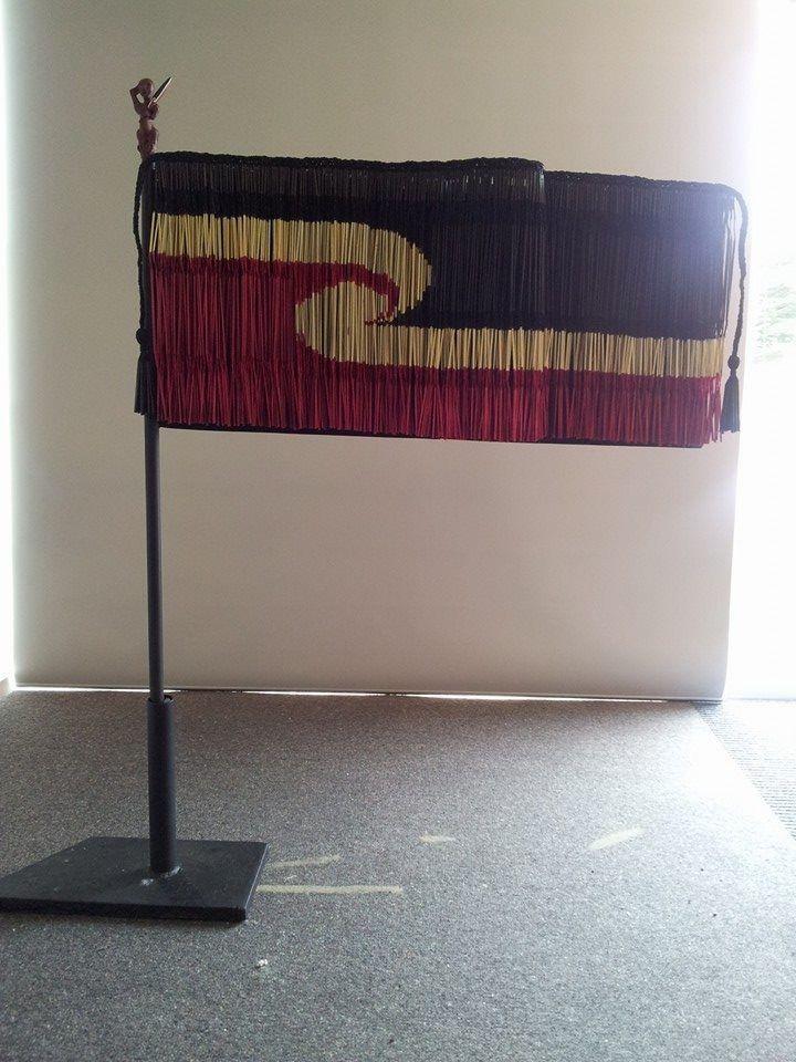 Tino Rangatiratanga Flag Piupiu - Landscape by Geraldine Ogle