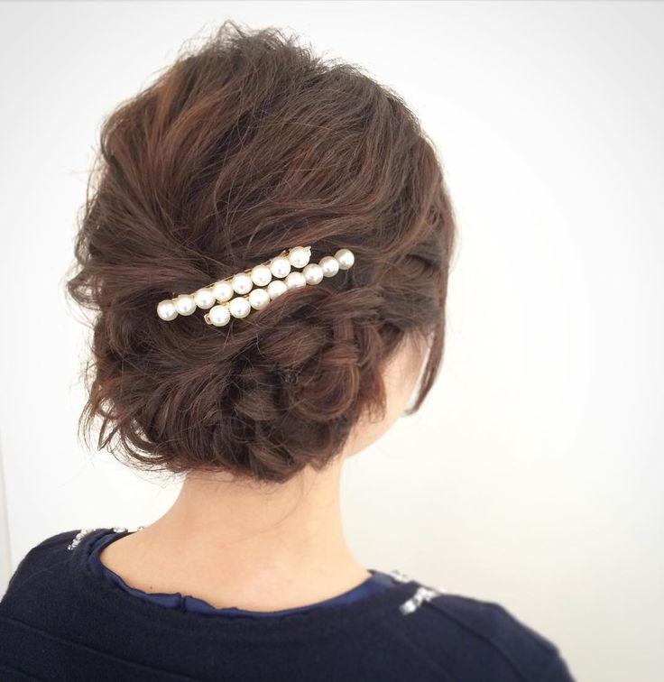today's hair style☆  両サイドに編み込みを入れて少しサイドよりにまとめたシンプルスタイル☆ . #ヘアセット #セット #ヘアアレンジ #アップスタイル #ツイスト #編み込み #ねじねじ #ヘアアクセサリー #シンプル #もふもふ #タイト #結婚式 #ルーズ  #フェミニン #ブライダル #パーティー #二次会 #ファッション #メイク #ありがとう #京都 #京都駅前 #美容室 #t2style #love #starbucks #beauty #courarir #courarirkyotoekimae #kyoto