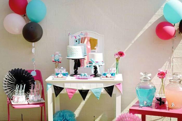 salon themed birthday party ideas decor planning cake