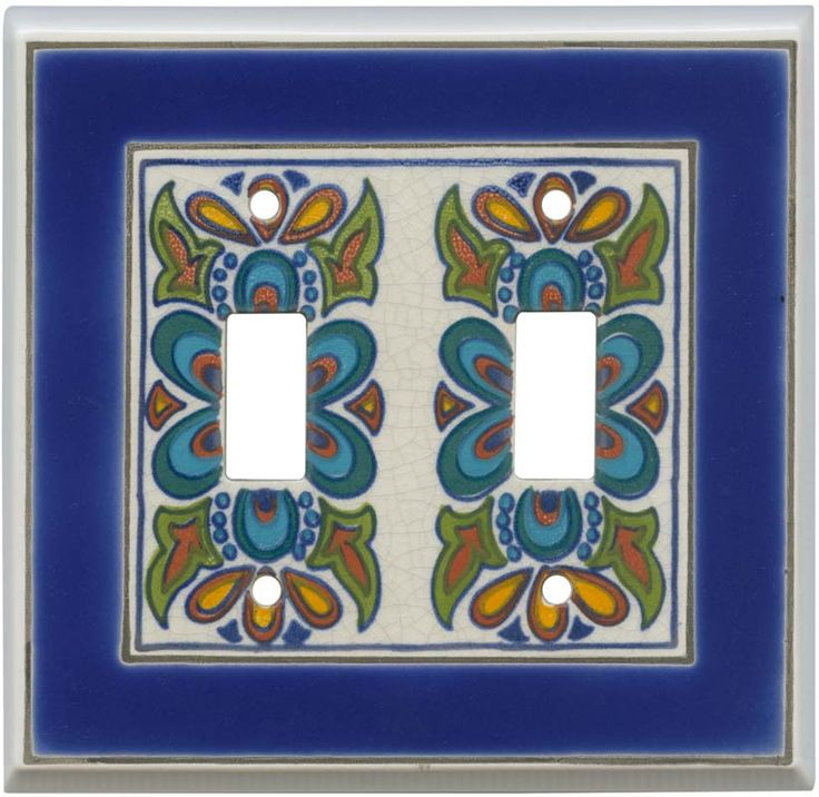 mediterranean ceramic light switch plates outlet covers wallplates home things pinterest. Black Bedroom Furniture Sets. Home Design Ideas