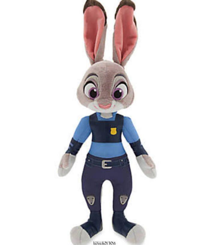 "Authentic Disney Store * ZOOTOPIA Movie Toy 15"" Officer Judy Hopps Plush NEW + #Disney"