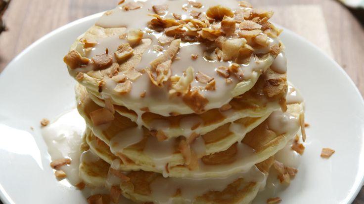Piña Colada Pancakes  - Delish.com