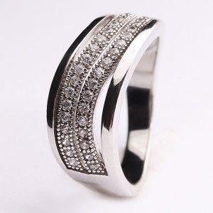 925 ayar, zirkon taşlı, gümüş bayan yüzüğü